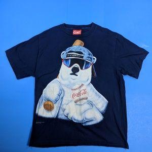 Vintage Coca Cola Coke Polar Bear Shirt XL